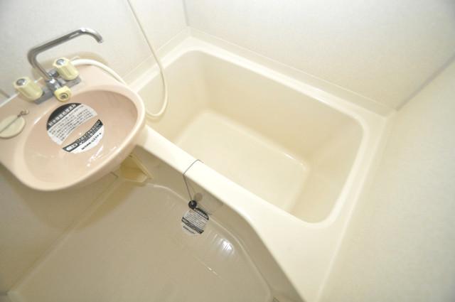 ビオス中小阪 単身さんにちょうどいいサイズのバスルーム。