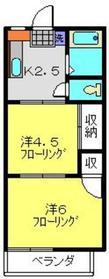 新羽駅 徒歩17分2階Fの間取り画像