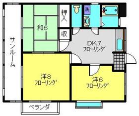 第2ツインレジデンス2階Fの間取り画像