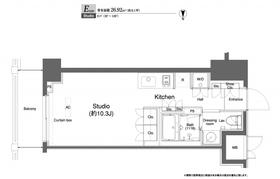 プラウドフラット横浜8階Fの間取り画像