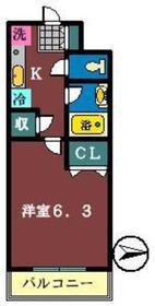 ジュネス・アイカワ2階Fの間取り画像