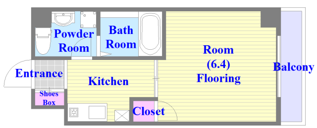 CLASSY舎利寺 バストイレがセパレート、独立洗面所のある使い易い間取りです。