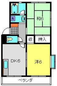 シャトーム・エル4階Fの間取り画像