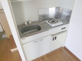 1口ガスコンロが付いているキッチンです。