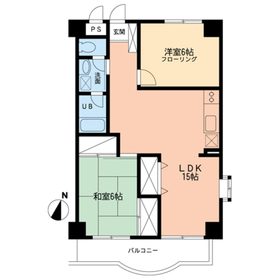 Iビル6階Fの間取り画像