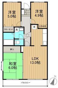 ベルデュール麻生弐番館1階Fの間取り画像