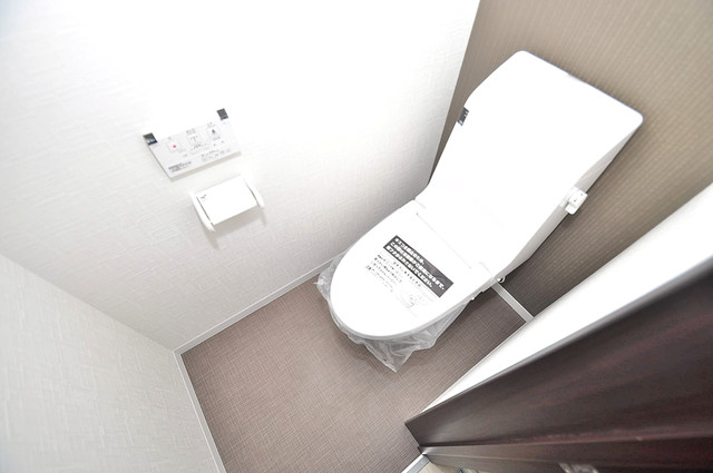 Realize長瀬 白くてピカピカのトイレですね。癒しの空間になりそう。