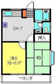 鶴見駅 バス10分「寺尾中学校入口停」徒歩1分2階Fの間取り画像