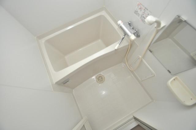 CASSIA高井田SouthCourt ちょうどいいサイズのお風呂です。お掃除も楽にできますよ。