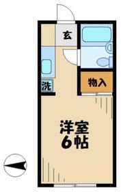第3一水荘2階Fの間取り画像