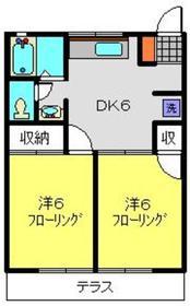 サンコーポ麻樹1階Fの間取り画像