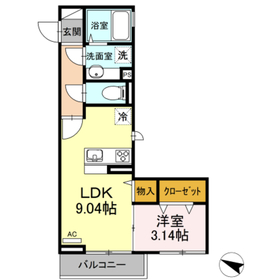 Maison de Vega3階Fの間取り画像