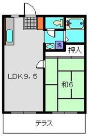 ハイツアサノA棟1階Fの間取り画像