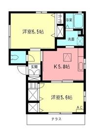 メルツ鎌倉1階Fの間取り画像