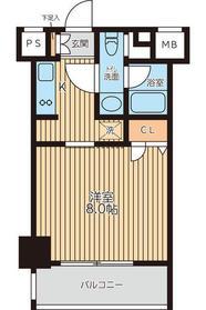 レジディア新横浜(レジディアシンヨコハマレジ)3階Fの間取り画像