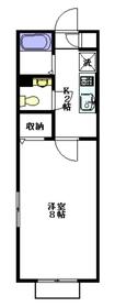 サステナ2階Fの間取り画像