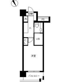 スカイコート新宿壱番館9階Fの間取り画像