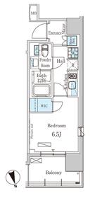 パークアクシス築地6階Fの間取り画像