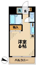 コアOK3 コアオーケースリー9階Fの間取り画像