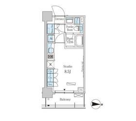 パークアクシス菊川5階Fの間取り画像