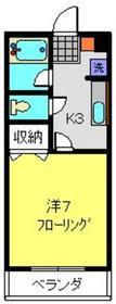 永谷ハイム2階Fの間取り画像