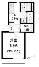 メゾン・ラフィーネ1階Fの間取り画像