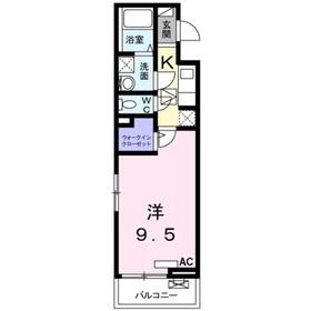 カリエンアステールⅡ1階Fの間取り画像