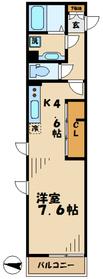 ベルチェドマーニ1階Fの間取り画像