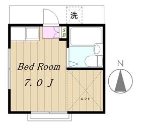 ヤシマハイツ2階Fの間取り画像