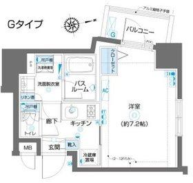フェニックス川崎参番館13階Fの間取り画像