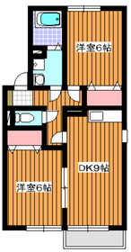 成増駅 バス16分「南大和団地」徒歩5分2階Fの間取り画像