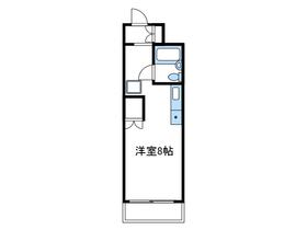 コスモヒロ南台2階Fの間取り画像