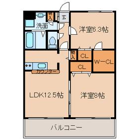 サンモールMARUHARA3階Fの間取り画像
