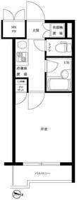 ルーブル武蔵小杉参番館6階Fの間取り画像