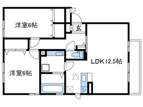 ブライトガーデン新磯野Ⅱ2階Fの間取り画像