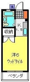 和田町駅 徒歩15分2階Fの間取り画像