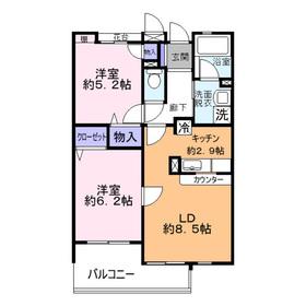 タートルクレインふじみ野Ⅱ3階Fの間取り画像