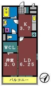 ブランシュールB1階Fの間取り画像