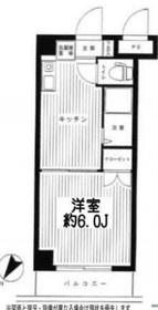 リーヴェルステージ横浜西2階Fの間取り画像