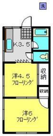 和光ハウス1階Fの間取り画像