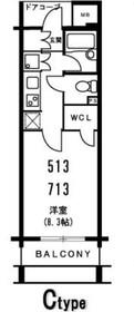 ファミール日本橋グランスイート5階Fの間取り画像