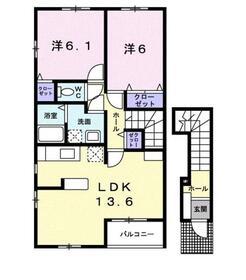 海老名駅 バス13分「寺尾」徒歩3分2階Fの間取り画像