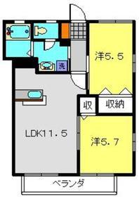 シャトージーバム2階Fの間取り画像