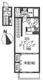 レヴァン・フランセ2階Fの間取り画像