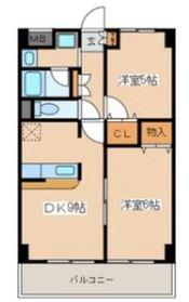 メゾンフローレ1階Fの間取り画像
