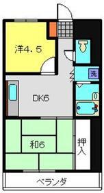 サンハイツ山崎2階Fの間取り画像