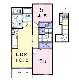 インディゴプラント2階Fの間取り画像