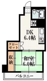 ライオンズマンション西新宿9階Fの間取り画像