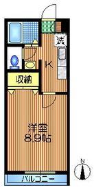 下北沢駅 徒歩15分2階Fの間取り画像