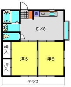 ドメスカミーリア1階Fの間取り画像
